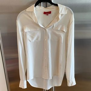 Saks Fifth Avenue Red Label White Silk Blouse XS